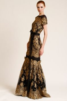 gold dress insane and black gold lace Spanish influence