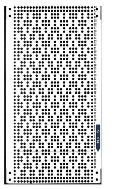 Brother 820 Knitting machine Punchcard number 5 http://www.needlesofsteel.org.uk/