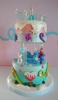 Creative Frozen Birthday Cake, Disney Frozen Cake for Kids Birthday Party, Cake Decor Ideas