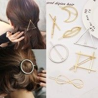 Apparel Accessories Self-Conscious 1 Pcs Japanese Solid Color Hollow Oval Acrylic Hairpin Geometric Small Grab Hairpin Baby Girls Small Hair Claw Cute Candy Color