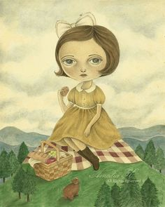 FREE SHIPPING The Giant Picnic Original Acrylic by TheWishForest, $185.00