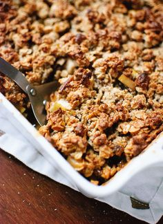 Gluten-free apple crisp recipe, perfect for the holidays! cookieandkate.com