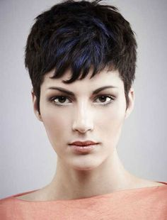 Super short hairstyles with blue line - Cool & Trendy Short Hairstyles 2014