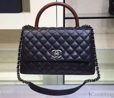 5af16db69df6 Chanel Medium Black Caviar Calfskin Flap Bag Pre Fall-Winter 2015