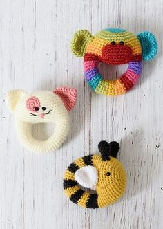 Happy Crochet Book baby animal rattles