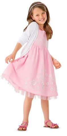 Tickled Pink Embroidered Dress & Cardigan