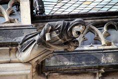 monk gargoyle...St. Vitus Cathedral,  Prague. se
