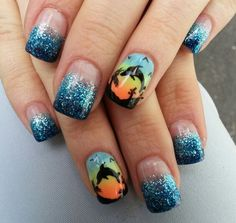 Among the cutest nail art designs for summer are ...