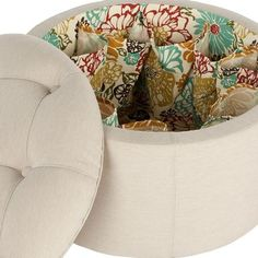 Natalie Shoe Storage Ottoman - I have never seen anything like this before. This would so come in handy for sandals :)