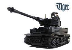 lego black tiger tank