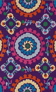 vibrant medallion rug!