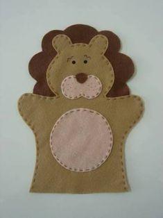Resultado de imagem para el kuklası modelleri etkinlikleri aslan Puppet Patterns, Felt Patterns, Stuffed Toys Patterns, Felt Puppets, Puppets For Kids, Felt Diy, Felt Crafts, Sewing Kids Clothes, Operation Christmas Child
