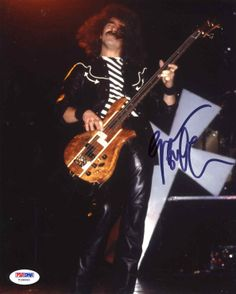 "Geezer Butler ""Black Sabbath"" Signed 8x10 Photo Certified Authentic PSA/DNA"