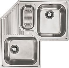 Buy the Franke Stainless Steel Direct. Shop for the Franke Stainless Steel Armonia Kitchen Sink Triple Basin Stainless Steel and save. Top Mount Kitchen Sink, Corner Sink Kitchen, New Kitchen, Kitchen Sinks, Kitchen Ideas, Corner Cabinets, Architecture Tools, Log Homes Exterior, Color Plan