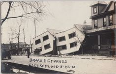 Ohio Postcard 1913 Columbus Flood Disaster RPPC Broad Cypress Homes Over | eBay