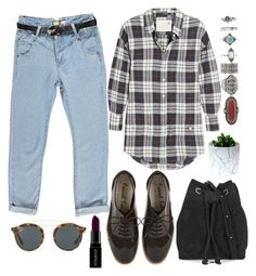 """Untitled #1043"" by meelstyle ❤ liked on Polyvore featuring Boohoo, Ray-Ban, BeckSöndergaard, Forever 21, R13 and Smashbox"