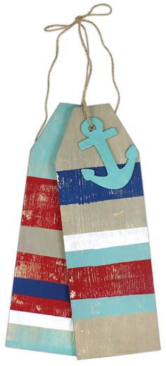 Nautical Giant Wooden Tags click through for project instructions Wooden Pallet Crafts, Pallet Art, Wooden Diy, Wood Crafts, Pallet Ideas, Pallet Projects, Painted Fan Blades, Wood Tags, Wooden Door Hangers