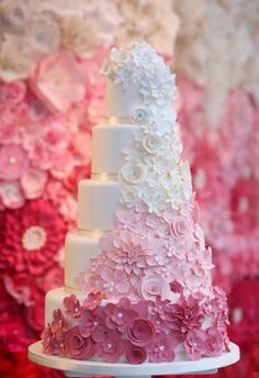 Lovely Pink ombré cake- Dani Beach Photography - Preston Bailey Blog