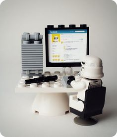 Lego Vader on Facebok! And now my life is complete. :)