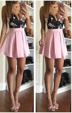 Pleated Essential Flared Skirt (more colors)- FINAL SALE from Colors of Aurora. Saved to clothes. Girly Outfits, Skirt Outfits, Dress Skirt, Dress Up, Cute Outfits, Skater Skirt Outfit, Pink Dress, Cute Skirts, Cute Dresses