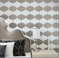 Gray wall/headboard!