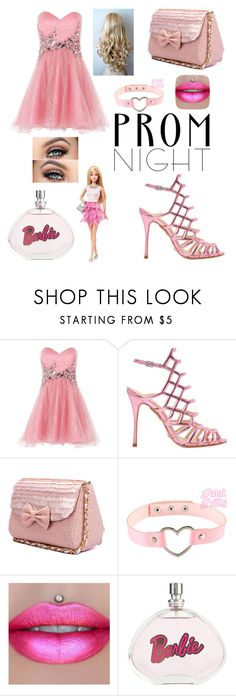 """""""Barbies Prom night💞"""" by imogenation ❤ liked on Polyvore featuring Anoushka G, Schutz and Mattel"""
