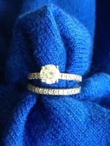 Round Solitaire Diamond Engagement Ring and Wedding Band Wedding Sets, Wedding Bands, Wedding Stuff, Solitaire Diamond, Diamond Engagement Rings, Rings N Things, Wedding Pinterest, Gold Rings, Marriage