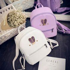 free shipping fashion 2017 new summer Backpack Bag ear female Korean Pu school bag ladies fashion small backpack tide wind #Affiliate
