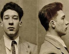 Ronnie Kray's mugshot after police caught up with the Kray Twins in the late 1940s