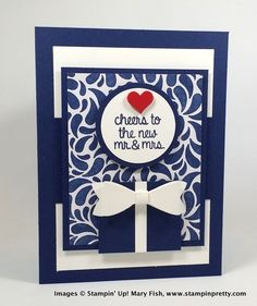 Stampin up stampinup stamping stampin' up! pretty mary fish - your perfect day and the new bow punch