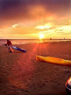 #Kayak at sunset, Lake Michigan Like, Repin, Share, Follow Me! Thanks!