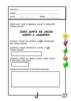 Atividades letra J 009