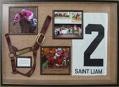 Shadow box memorial for horses. I like the way the halter is laid out in this one.