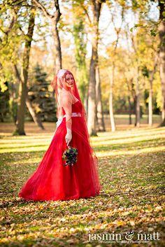 Paula looking beautiful in her red wedding dress at Kildonan Park in Winnipeg, Canada Red Wedding, Wedding Ideas, Bridal Portraits, New Image, Formal Dresses, Wedding Dresses, Wedding Photography, Gallery, Canada