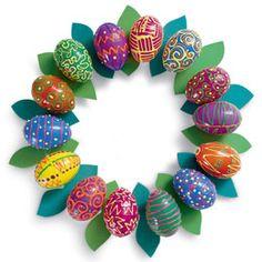 Cute Easter Egg Wreath.