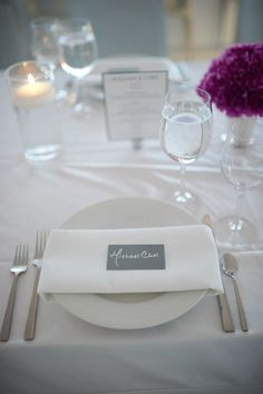 #place-settings, #place-cards  Photography: Ryan Brenizer - ryanbrenizer.com  Read More: http://www.stylemepretty.com/2013/04/17/new-york-city-wedding-from-unique-visions-studio-ryan-brenizer/