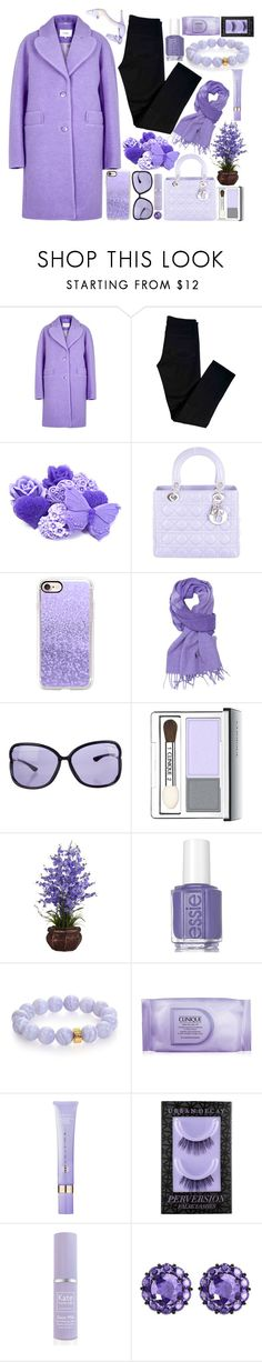 """""""Violet with a tinge of black."""" by fangirl-preferences ❤ liked on Polyvore featuring Carven, J Brand, Christian Dior, Casetify, Polo Ralph Lauren, Tom Ford, Clinique, Essie, Nest and Tatcha"""