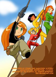 """Kim Possible and totally spies """"Who is this chick?"""" (Damn, Clover...)"""