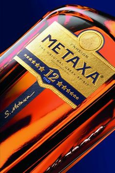 Metaxa 12 Star Brandy  -  A blend of brandy matured for up to 12 years and muscat from the vineyards of Samos to produce an intense and flavoursome Greek brandy.