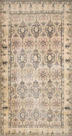"rahmanan:  Katrina's Pick:#19012 antique Persian Isfahan carpet9'0"" x 17'6""circa 1890http://www.rahmanan.com/inventory/show/19012/"