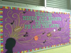 Music and art bulletin board for outside our rooms