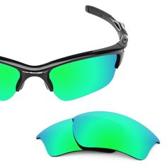 dfeab69bcf9 Revant Replacement Lenses for Oakley Half Jacket 2.0 XL - Polarized Emerald  Green MirrorShield™ Oakley