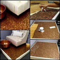 Penny floors! A copper pedicure suite