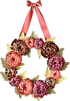 Mums Wreath Kit - I want to make one for the front door.  Of course, true to my nature, I will change it to meet my decor colors!