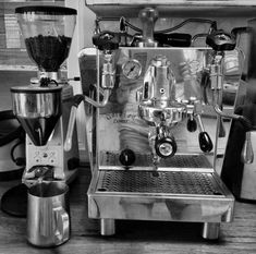Home espresso machine.