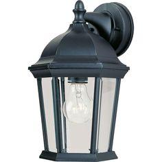 Maxim Lighting Builder Cast 1-Light Black Outdoor Wall Mount-1024BK - The Home Depot