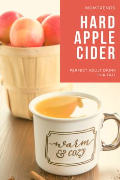 This hot and spicy hard apple cider will warm you from the inside out it's the perfect drink for fall. #cider #hardcider Fall Recipes, Drink Recipes, Warm Apple Cider, Party Food And Drinks, Sweet Desserts, Milkshake, Smoothies, Spicy, Beverages