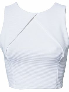 Cross Front Rib Top - Oneness - White - Tops - Clothing - Women - Nelly.com