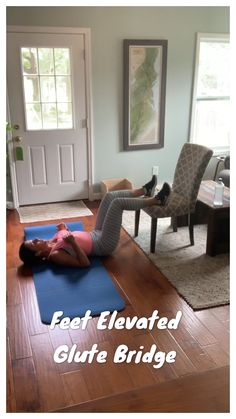 Feet Elevated Glute Bridge This is a great booty workout! Home Weight Workout, Ab Workout At Home, Pilates Workout, At Home Workouts, Lower Belly Workout, Lower Ab Workouts, Fun Workouts, Leg Exercises With Weights, Thigh Exercises