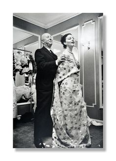 Christian Dior with Ava Gardner